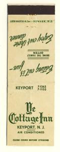 Keyport, New Jersey/NJ Matchcover, Ye Cottage Inn