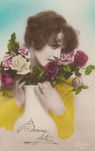 RP: Woman holding Roses , 00-10s