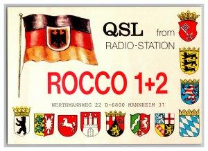 QSL Radio Card From Werthmannweg Mannheim Germany
