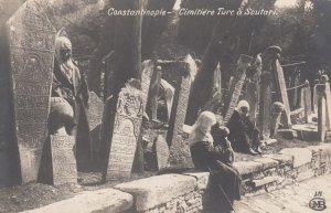 RP: CONSTANTINOPLE , Turkey , 00-10s ; Women in cemetery