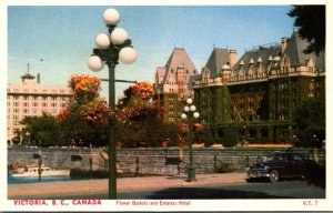 Canada Victoria Flower Baskets and Empress Hotel