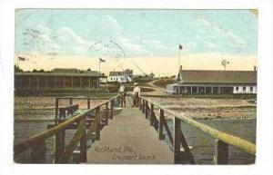 Pier, Crescent Beach, Rockland, Maine, PU-1912