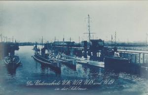 RP: U-Boats (Submarines) U16, U17, U18, U19 , KIEL , Germany , 00-10s