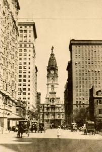 PA - Philadelphia. Broad St. north from Locust circa 1905. City Hall (center)...