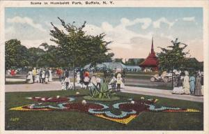 New York Buffalo Scene In Humboldt Park 1918