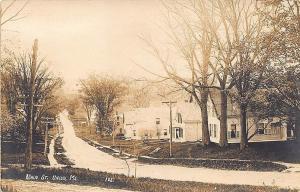 Union ME Main Street Houses View RPPC Postcard