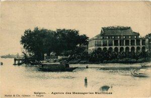 CPA AK INDOCHINA Saigon Agence des Messageries Maritimes VIETNAM (957055)