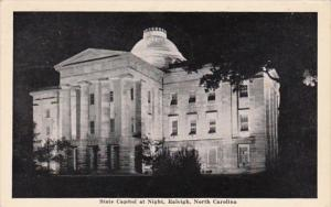 North Carolina Raleigh State Capitol Building At Night 1942