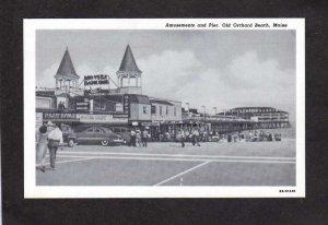 ME Amusement Park Casino Dance Hall Pier Old Orchard Beach Maine Postcard