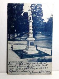 1906 READING PA City Park Volunteer Fireman's Firefighters Monument Glitter RARE