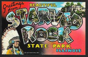 Greetings From Starved Rock State Park Illinois Unused c1965