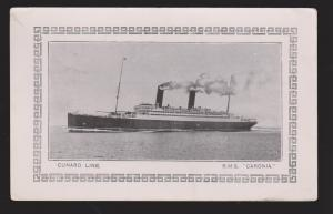 RMS Caronia - Cunard Line - Abstract From Log On Back