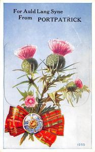 Scotland, UK Old Vintage Antique Post Card Portpatrick pop out card 1961