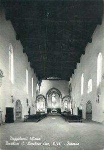 Postcard Italy Poggibonsi (Siena) Basilica S Lucchese interior aspect