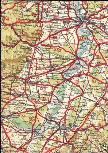 Map Of Germany Karlsruhe Baden.Germany Mannheim Karlsruhe Baden Wurttemberg Map Pc Hippostcard