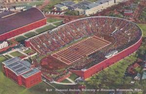 Memorial Stadium University Of Minnesota Minneapolis Minnesota 1950 Curteich