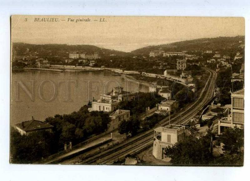 203154 FRANCE BEAULIEU Station & railway Vintage postcard