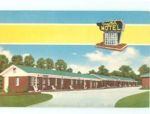 Vintage Post Card Crystal Motel Vivaian George Butler W Columbia Missouri # 4201
