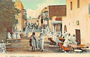 BISKRA ALGERIA AFRICA~RUE ds OULEDS-NAILS~TINTED LL PHOTO POSTCARD