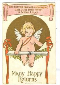 Many Happy Returns, Angel looking in book, PU-1909