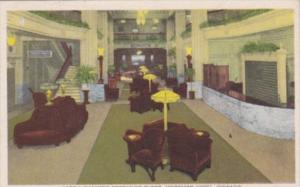 Illinois Chicago Morrison Hotel Lobby Showing Mezzanine Floor