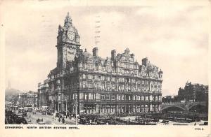 Edinburgh, North British Station Hotel, auto, cars, animated 1935