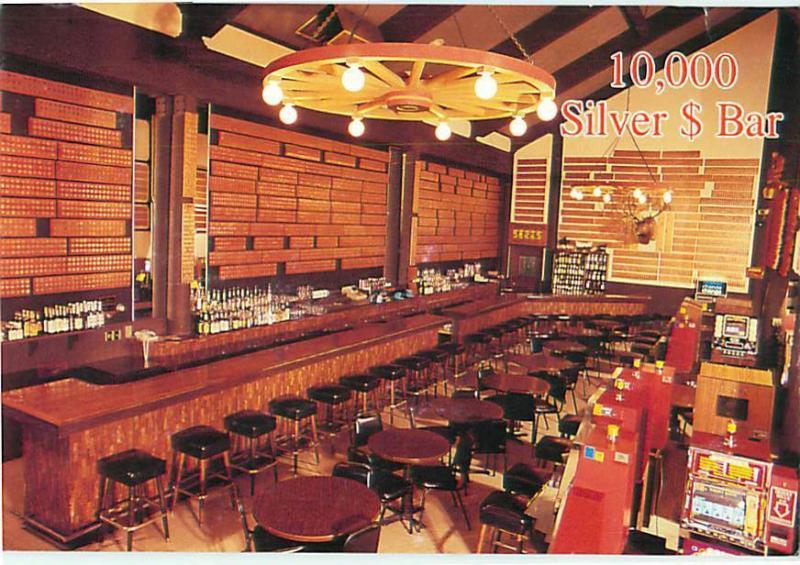 Montana Lincolns 10000 Silver Dollar Bar Hotel Restaurant Insid Postcard  # 7409