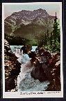 Athabasca Falls and Mt Kerkeslin,Jasper National Park,Alberta,Canada