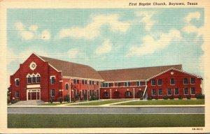 Texas Baytown First Baptist Church Curteich