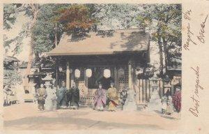 2 girls in park , Japan , 1906