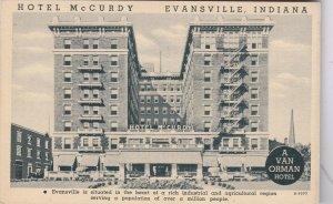 Indiana Evansville Hotel McCurdy Curteich sk5089
