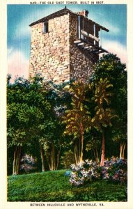 Virginia Old Shot Tower Built 1807 Between Hillsville and Wytheville 1940