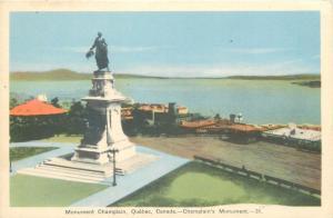 Champlain`s Monument Quebec canada
