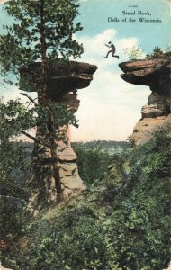 Postcard Stand Rock Dells of Wisconsin