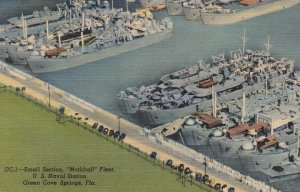 GREEN COVE SPRINGS, Small Section Mothball Fleet, Florida, 30-40s