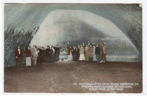 Subterranean Ice Cave Main Chamber Idaho 1910c postcard