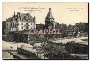 Postcard Old Chateau Chenonceau