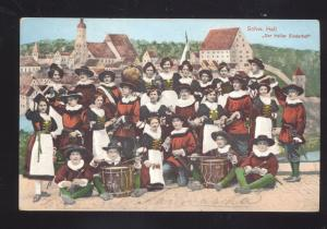 SCHW. HALL DER HALLER SIEDERHOF GERMAN BAND ANTIQUE VINTAGE POSTCARD GERMANY