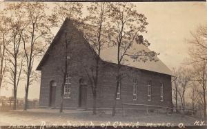 E63/ Indian Run Ohio RPPC Postcard 1916 Stark County Church of Christ