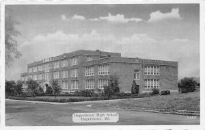 Hagerstown Maryland~Hagerstown High School~Vintage B&W Postcard