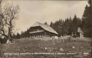 Peter Rosegger's Geburtshaus Steiermark real photo