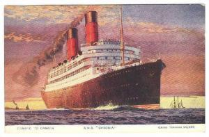Oceanliner/Steamer, Cunard To Canada, R.M.S. Caronia, Gross Tonnage 20,000,...