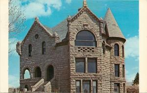 White Sulphur Springs Montana~BR Sherman's Stone Castle Mansion~1960s Postcard