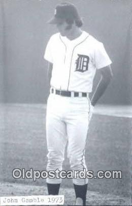 John Gamble Base Ball Postcard Detroit Tigers Baseball Postcard Post Card  Jo...