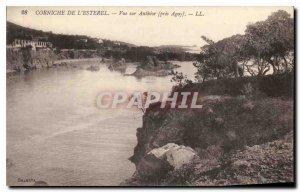 Old Postcard Corniche Esterel near Agay Antheor View
