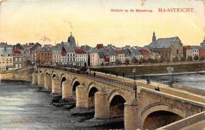 Netherlands, Maastricht, Gezicht op de Maasbrug, pont, bridge 1907