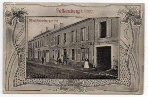 Falkenberg France Fold Out Novelty Street Scene Vintage Postcard JJ658860