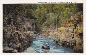 Going Down The Rapids Ausable Chasm New York 1937