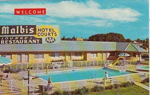 Alabama Mobile Malbis Hotel Courts With Pool