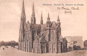 Poland Old Vintage Antique Post Card Warszawa St Florian Church Unused